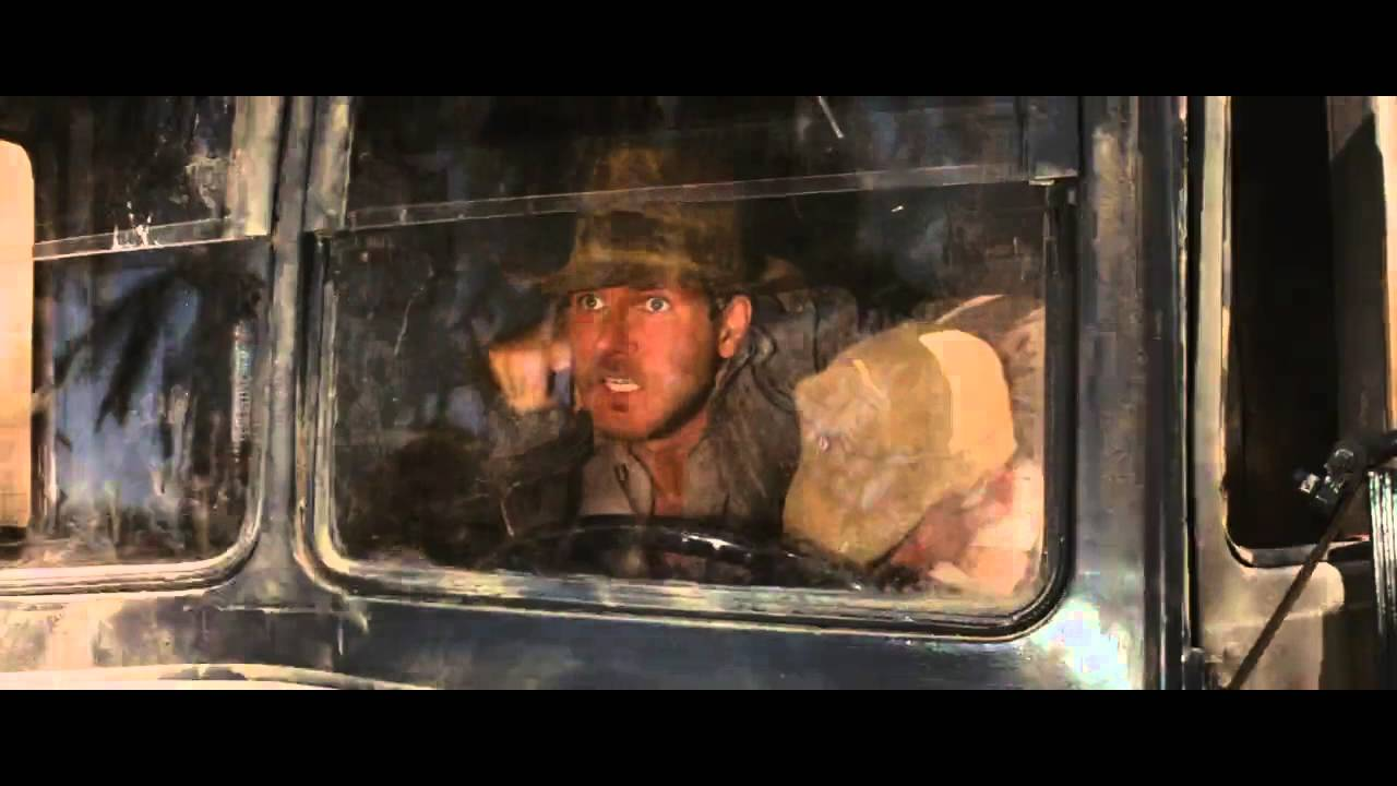 Image result for Indiana Jones truck chase