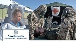 Dekontamination von Verwundeten - Sanitätsübung bei der Bundeswehr