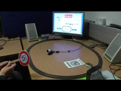 Märklin Racer Demonstrationsvideo IR/Fiducial Steuerung