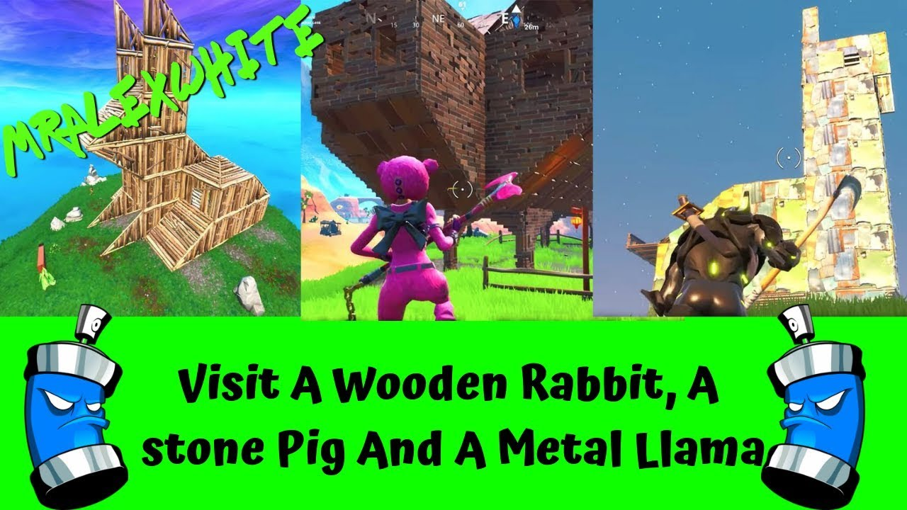 Wood Rabbit Stone Pig Metal Llama Fortnite Fortnite Free V Bucks - visit a metal llama in fortnite fortnite free v bucks generator fortnite wooden rabbit stone pig