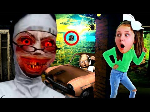 I Played the EVIL NUN HORROR GAME IN REAL LIFE!! Ruby Rube
