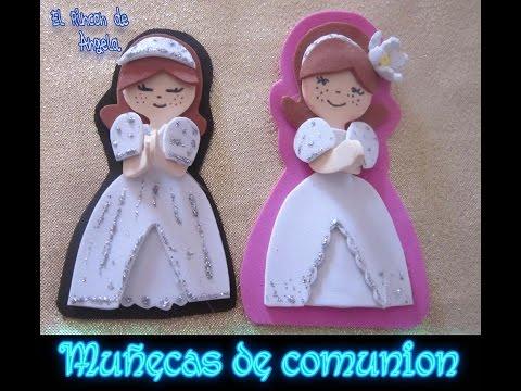 DIY Como hacer muñecas de comunion de goma eva