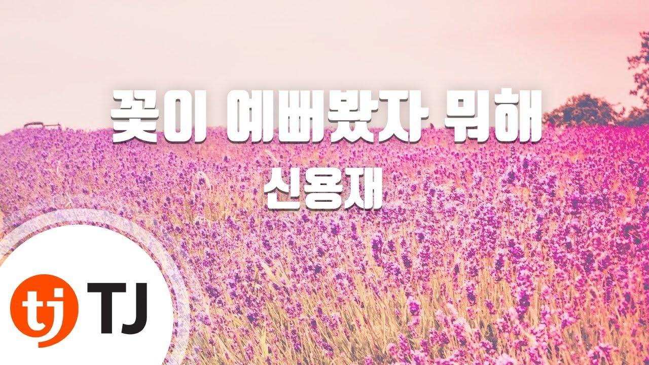 [TJ노래방] 꽃이예뻐봤자뭐해 - 신용재 / TJ Karaoke