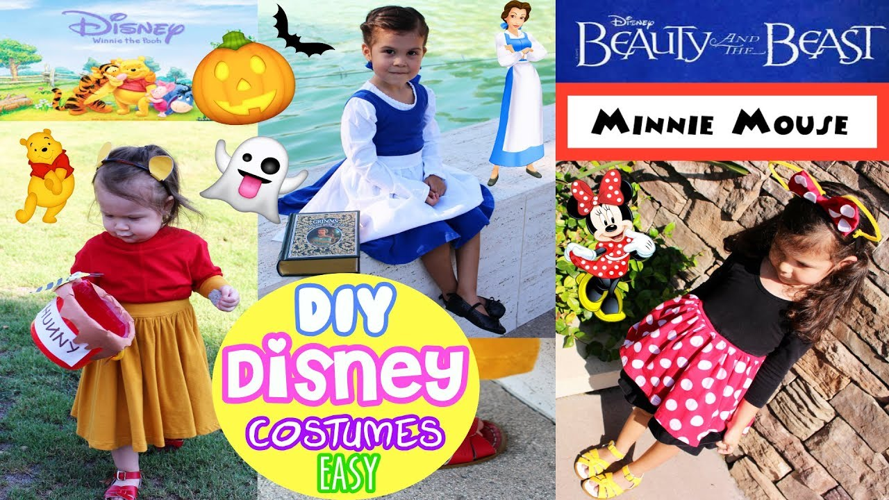 dcc402d1c283 DIY EASY Kids Disney Character Halloween Costume Winnie The Pooh Minnie  Mouse, Disney Princess Belle