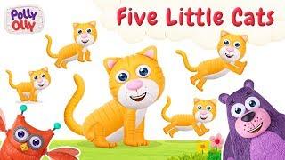 Five Little Kittens | Nursery Rhyme | Polly Olly
