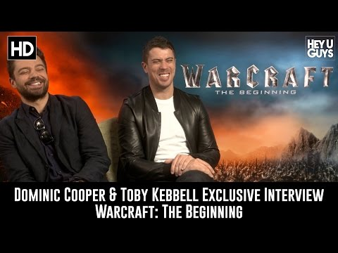 Dominic Cooper & Toby Kebbell Exclusive Interview - Warcraft: The Beginning