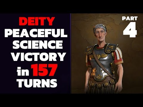 Civ 6 - T157 Deity PEACEFUL Science Victory - Part 4