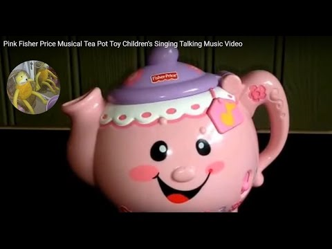 Pink Fisher Price Musical Tea Pot Toy Children's Singing Talking Music Video