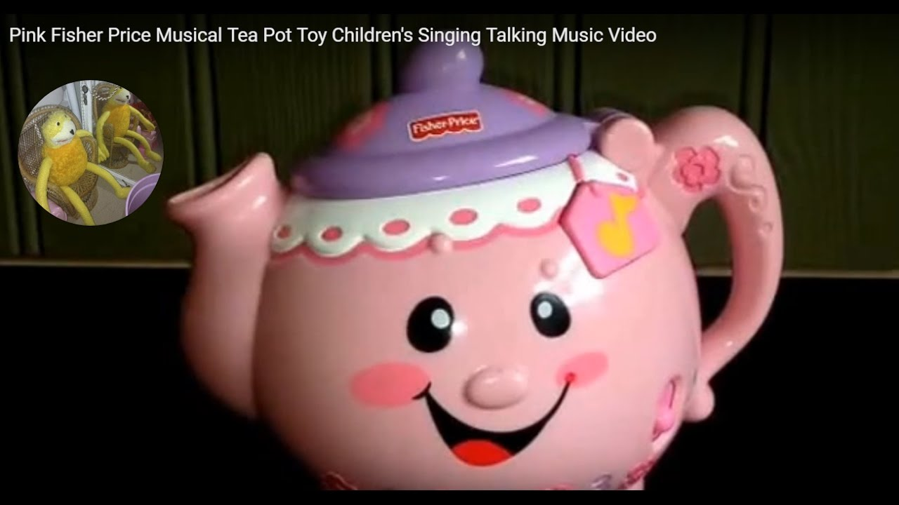 pink fisher price musical tea pot children s singing talking