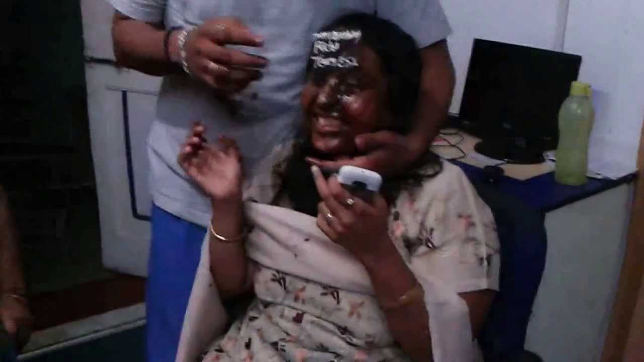 Wife Birthday Cake On Her Face Youtube