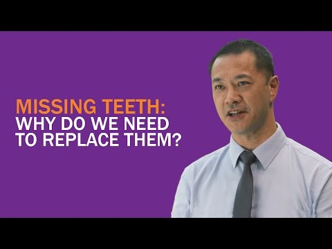 Why Do We Need To Replace Missing Teeth? (Dr Steven Soo)