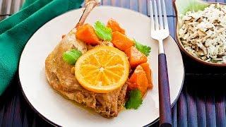 Домашние видео рецепты: утиные ножки с апельсином в мультиварке