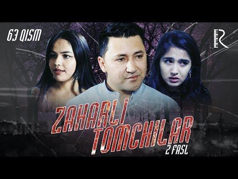 Zaharli tomchilar (o'zbek serial) | Захарли томчилар (узбек сериал) 63-qism #UydaQoling