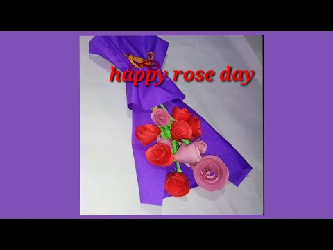 #valentinedayspecial #happyroseday.  paper flower bouquet for special 1/ creative spot