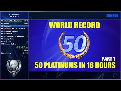 World Record Part 1 - 50 PS4 Platinum Trophies Within 24 Hours Replay (First 25 Platinums)