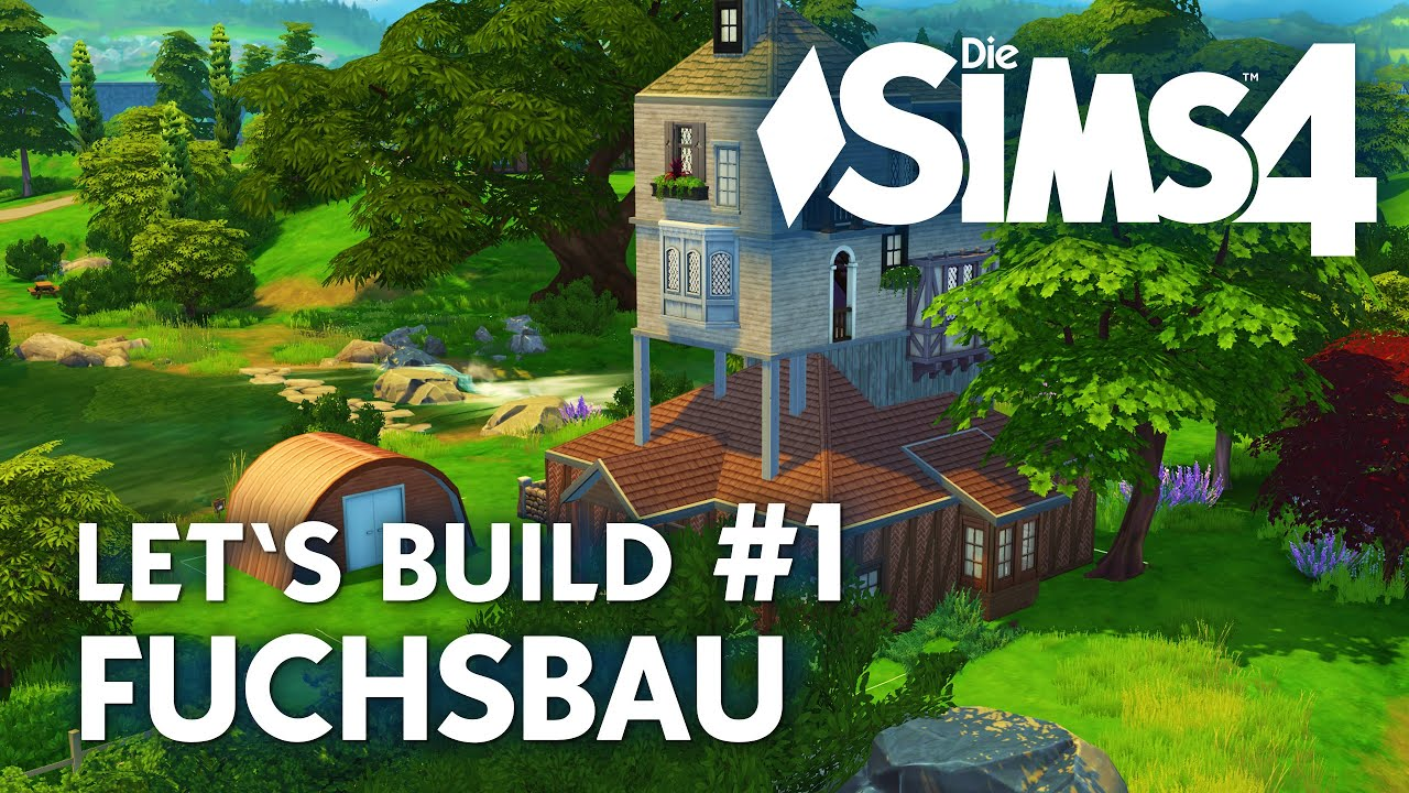 Die Sims 4 Lets Build Fuchsbau 1 Aus Harry Potter Bauen The Burrow