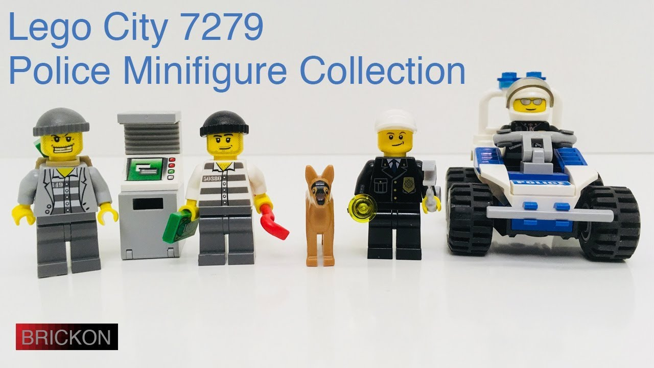 Lego City Police Minifigure Collection 7279 360 View On Turntable