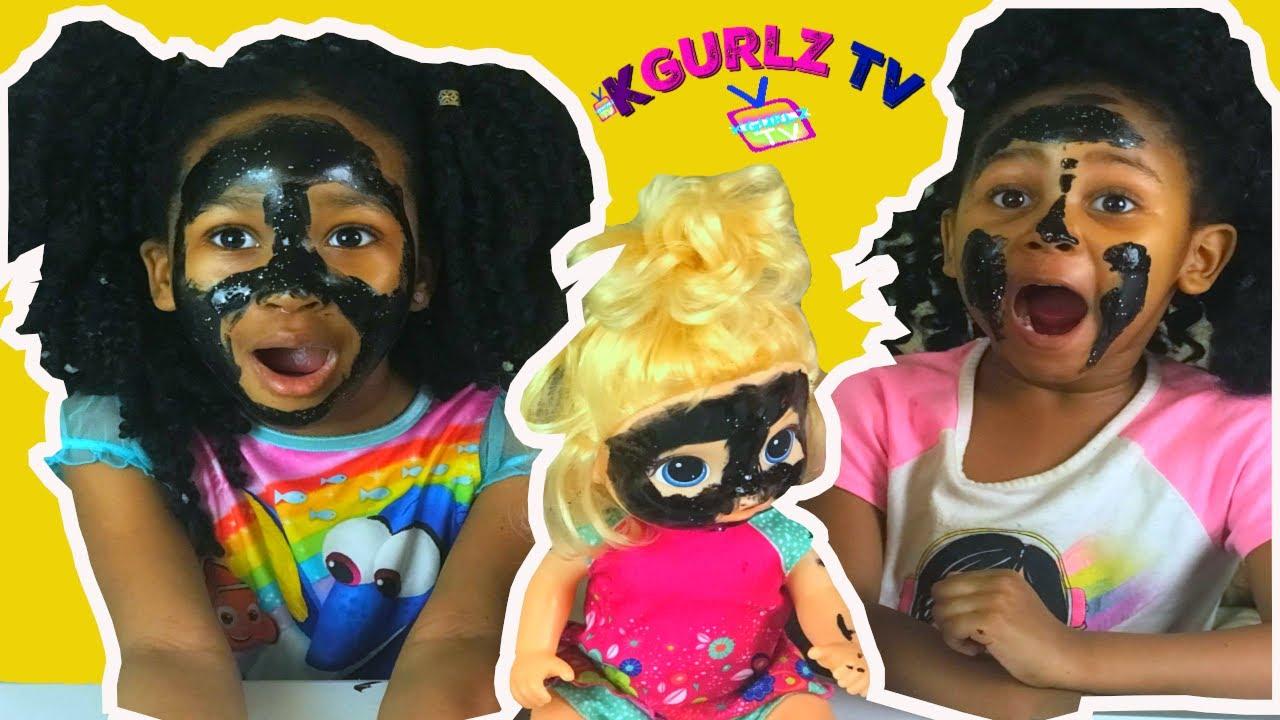 Download MASK PEEL GONE WRONG!! On YOUTUBE LIVE! Kgurlz tv