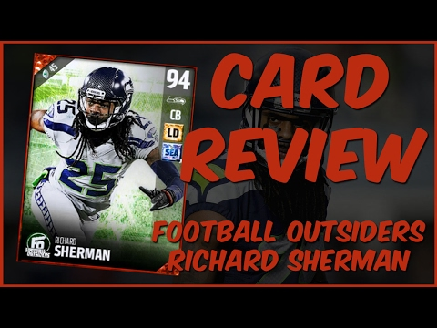 MUT 17 Card Review | Football Outsiders Richard Sherman Gameplay + Card Review
