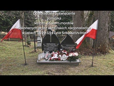 Czarna: Odsłonięcie i poświęcenie pomnika ku czci ofiarom mordów UPA