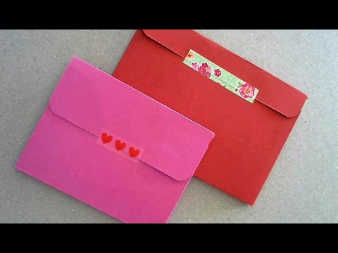 ❤THICK ENVELOPE out of A4 CARDSTOCK- DIY- [for Shaker cards or Bulky embellished cards]