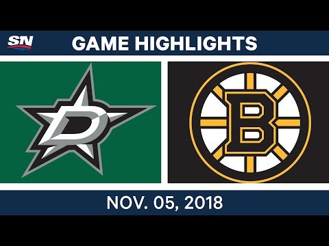 NHL Highlights | Stars vs. Bruins – Nov. 5, 2018