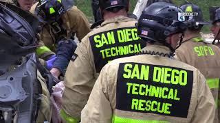 San Diego: Dramatic Rescue After Crash 04302018