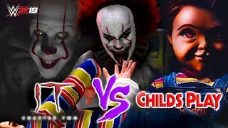 """PENNYWISE 2019 """"IT"""" Chapter 2 vs CHUCKY Child's Play 2019! WHICH MOVIE WILL BE THE BEST?"""