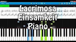 Einsamkeit Lacrimosa piano versión