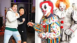 TRY NOT TO GET SCARED CHALLENGE! (Halloween Maze Edition)