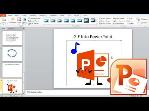 Animated gif in powerpoint 2020