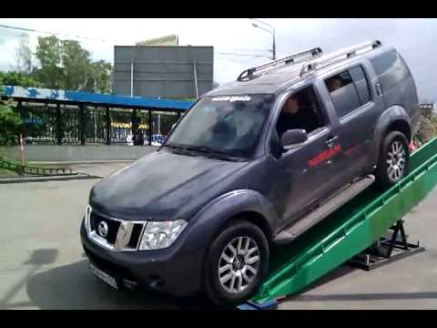 Nissan Pathfinder 2010 on a demo track in AutoSpecCenter Moscow