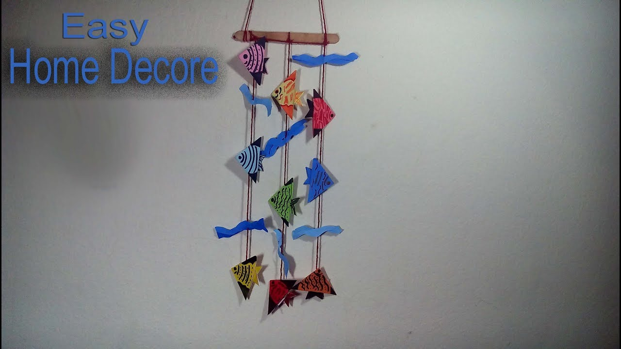 Wall Hanging Home Decoration Idea With Origami Fish