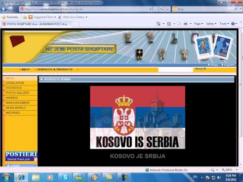 Albanian Post Office sh.a. hacked by Serbian hackers 2011