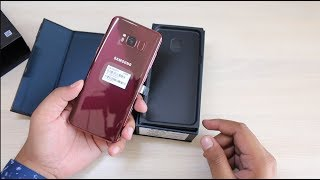 Samsung Galaxy S8 Limited Edition Burgundy Red Unboxing