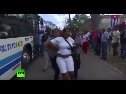 Cuban police break up protest ahead of Obama's visit