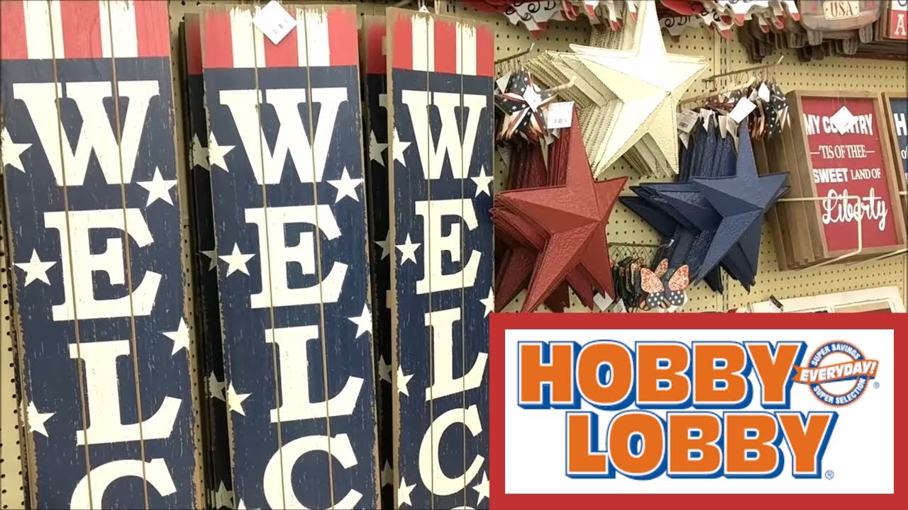 Hobby Lobby Memorial Day & 4th of July Home Decor!