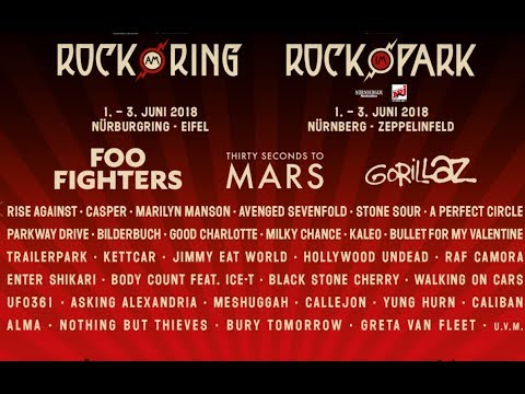 2018 'Rock Am Ring' and 'Rock Im Park' festivals.. initial bands and headliners announced!