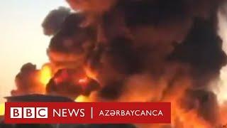 Bakının Binəqədi rayonunda boya fabriki yanır