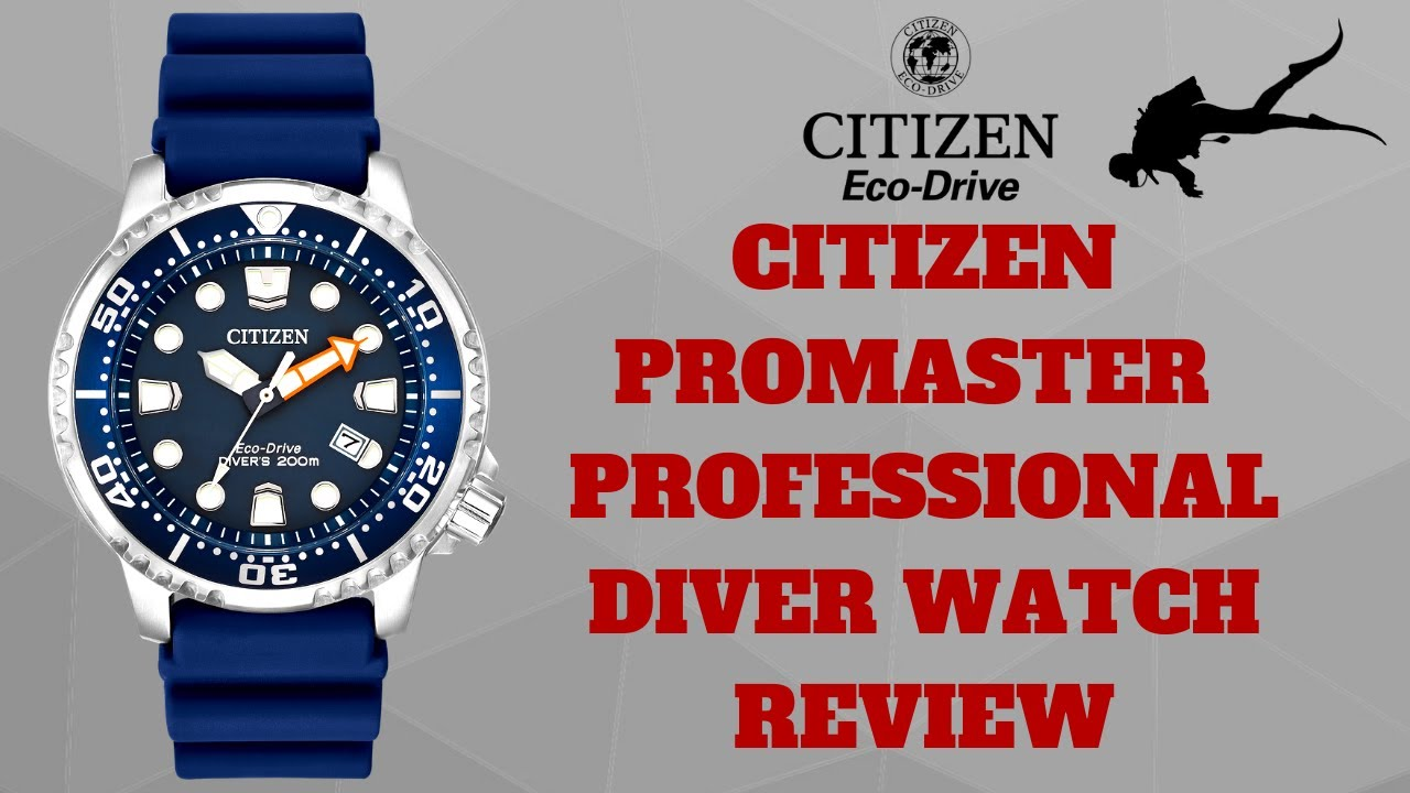06bce947e CITIZEN PROMASTER PROFESSIONAL DIVER WATCH REVIEW MODEL  BN0151-17L ...