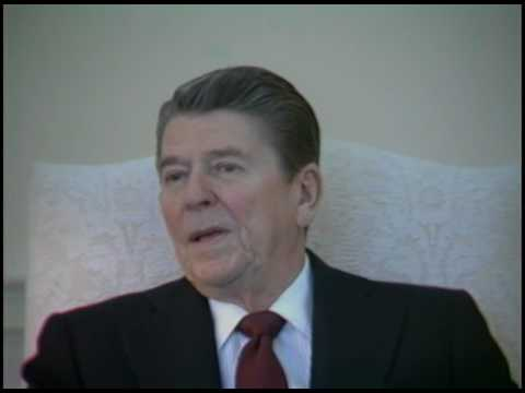 President Reagan's Interview with Newsweek Magazine in the Oval Office on January 27, 1984