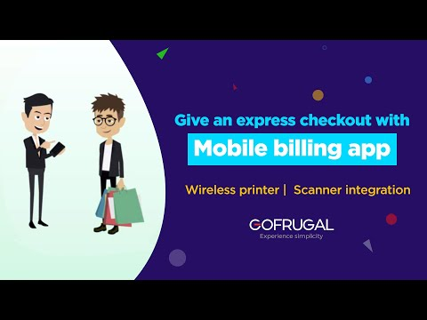 Mobile billing POS for Retail   Express checkout counter   GoFrugal SellSmart