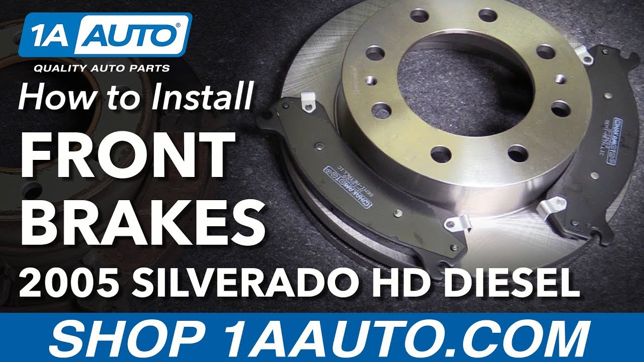 How To Install Replace Front Brake Pads Rotors 2005 Chevy Silverado 2001 Chevrolet 2500 6 0 Vortec Engine Diagram Hd Diesel
