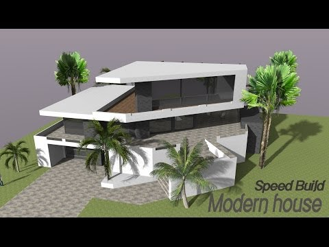 Google Sketchup Speed Building - Modern house
