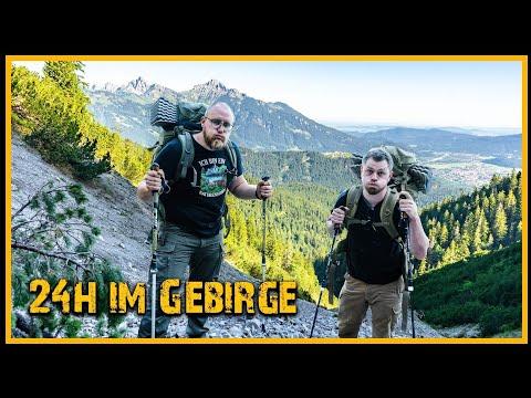 24h Overnighter im Gebirge - Übernachtung am Berghang - Outdoor Bushcraft Deutschland