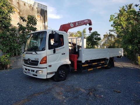 Bán xe Hino FC9 6 tấn gắn cẩu Unic 340 3 tấn 4 khúc - YouTube