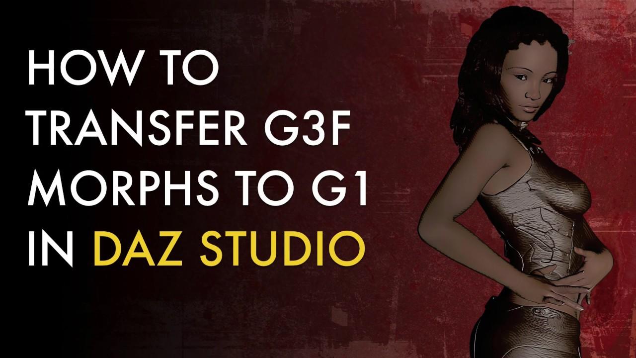 How to Transfer Genesis 3 Morphs to a Genesis 1 Figure in DAZ Studio