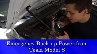 Hacking my Tesla Model S for an Emergency 12v Power Source