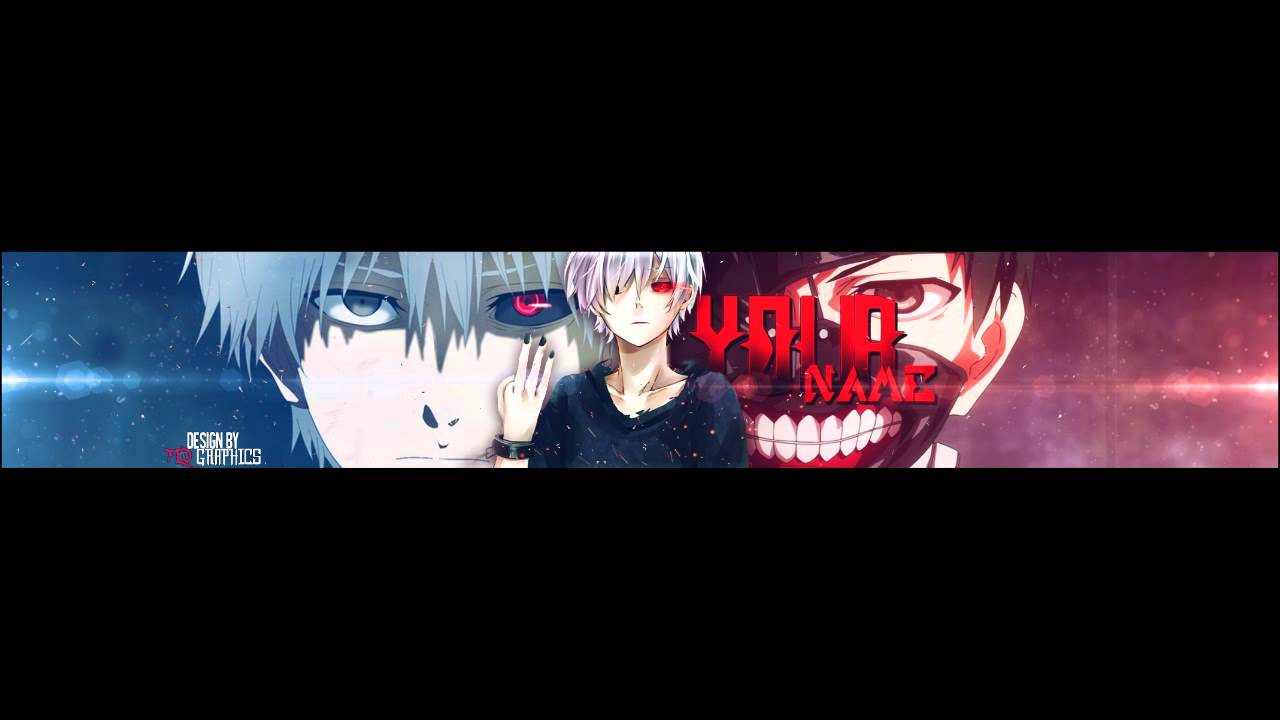anime tokyo ghoul youtube: Anime Banner Template #30