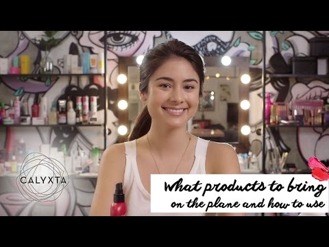 Calyxta Tutorial: What products to bring on the plane by Mari Jasmine